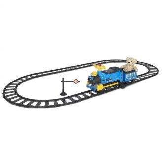 Pociąg kolejka jeździk dla dzieci na torach elektryczny 6V