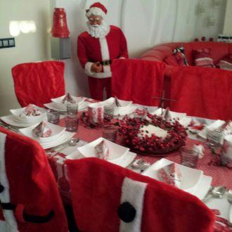 Pokrowiec na Krzesło Fotel Strój Świętego Mikołaja