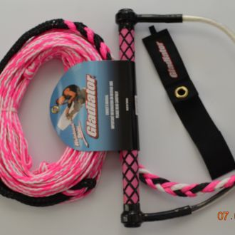 Tow rope for water skiing wakeboard GLADIATOR Pink